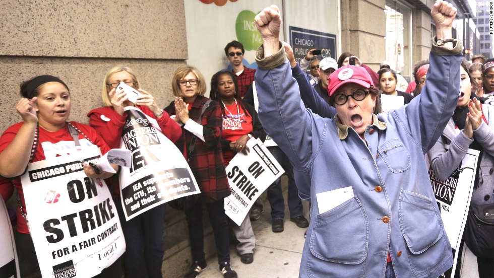 Fight for $15, teachers strike, fast food workers strike, minimum wage movement,
