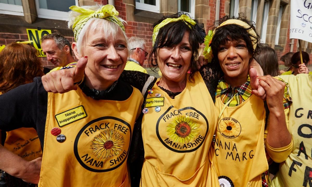 fracking, hydraulic fracturing, Lancashire fracking, Cuadrilla, Nanas Against Fracking