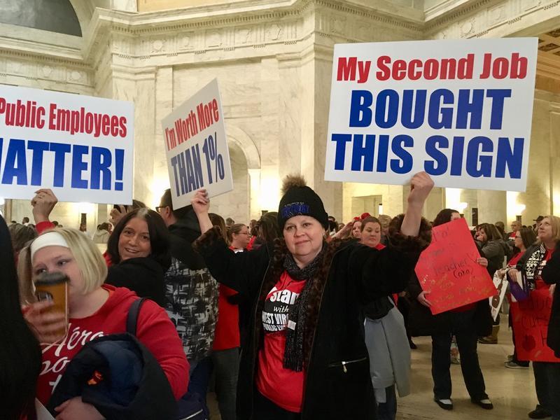 West Virginia teachers strike, teacher wages, labor movement, union employees, Janus v. AFSCME, West Virginia schools, low teacher pay