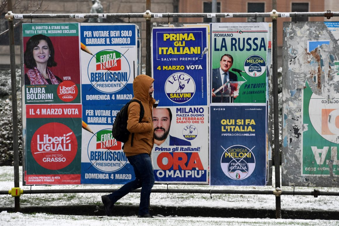 Italian elections, Italian far right, Five Star Movement, Lega Nord, Fratelli d'Italia, neo-fascism, right extremists, anti-immingrant sentiment