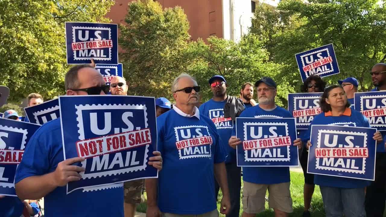 U.S. Postal Service, USPS, postal service privatization, Donald Trump, U.S. postal workers, #NotForSale, Postal Accountability and Enhancement Act