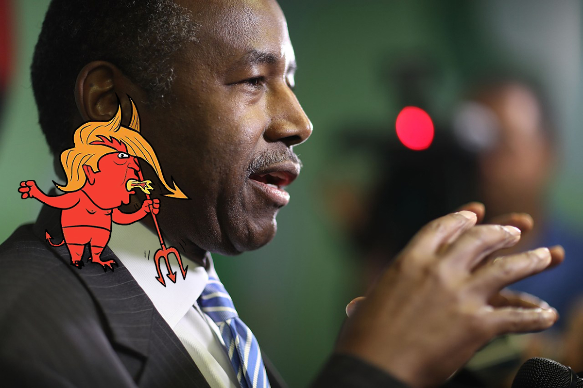 MIAMI, FL - APRIL 12: U.S. HOUSING AND URBAN DEVELOPMENT SECRETARY BEN CARSON SPEAKS TO THE MEDIA DURING A VISIT TO THE LIBERTY SQUARE APARTMENT COMPLEX ON APRIL 12, 2017 IN MIAMI, FLORIDA. (PHOTO BY JOE RAEDLE/GETTY IMAGES)