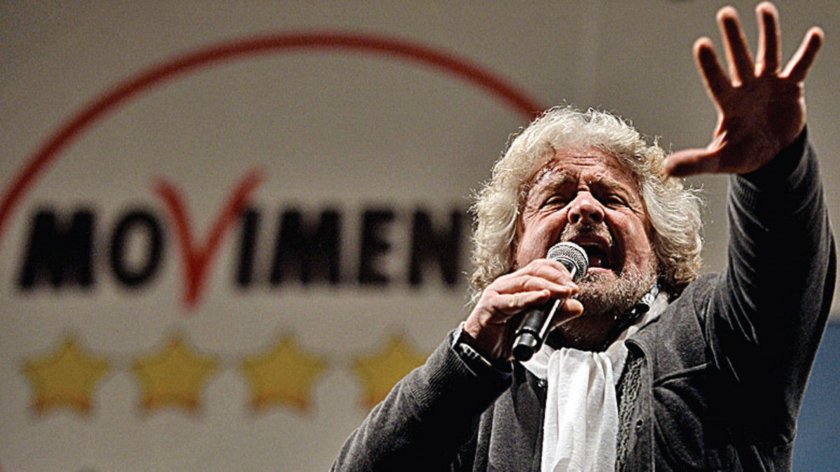 Five Star Movement, Beppe Grillo, anti-corruption movement, populist politics, Euro-skeptic party, Italian political corruption, Silvio Berlusconi, Virginia Raggi, Chiara Appendino