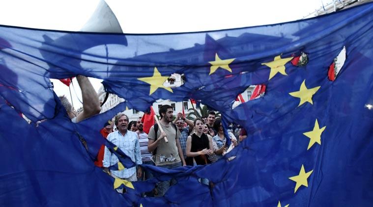 Greek economic crisis, Greek bailout, Syriza party, Greek austerity measures, E.U. bailouts, Alexis Tsipras