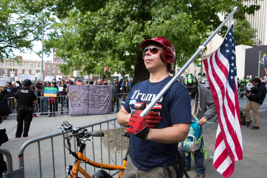 Act for America, anti-Muslim protests, xenophobia, rightwing rallies, pro-Trump rallies