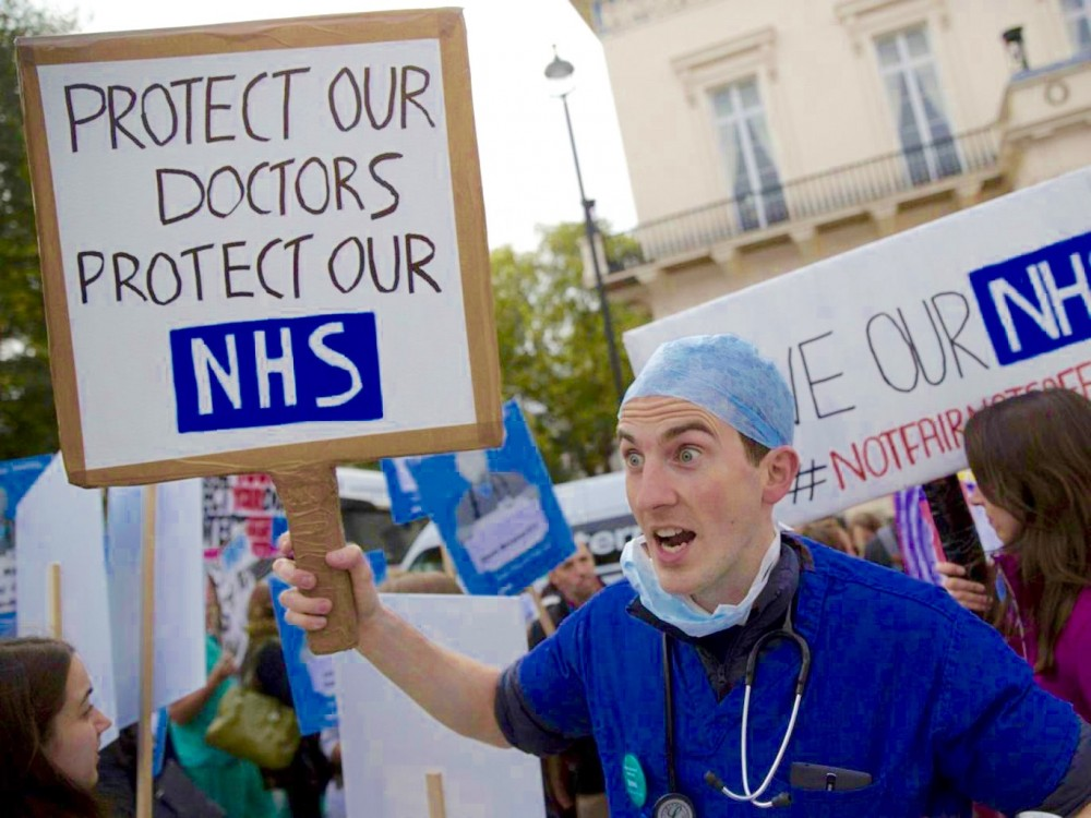 British Medical Association, junior doctors strike, UK health contract, Jeremy Hunt, National Health Service, U.K. austerity policies, austerity cuts, Keep Our NHS Public