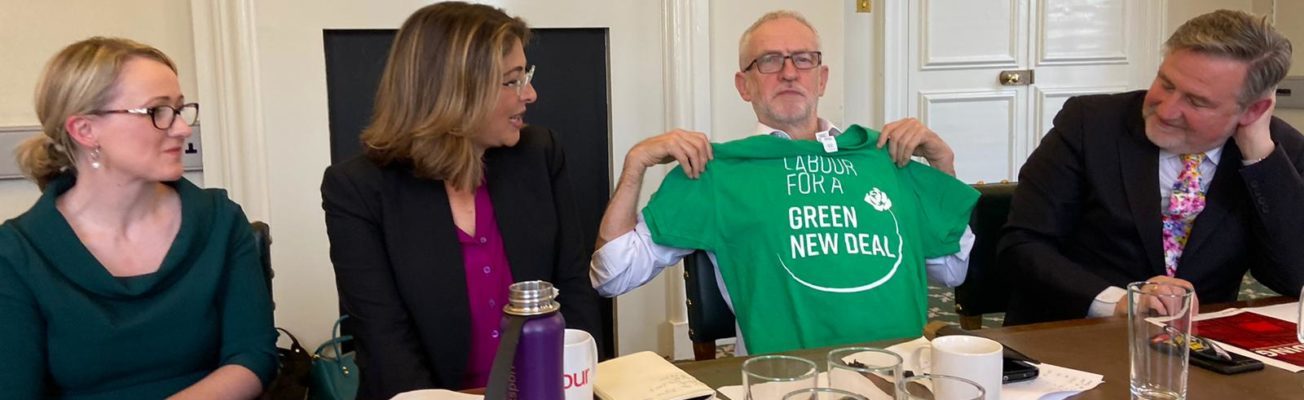 Green New Deal, UK snap election, climate denial, climate solutions, Labour party manifesto, Jeremy Corbyn, Boris Johnson