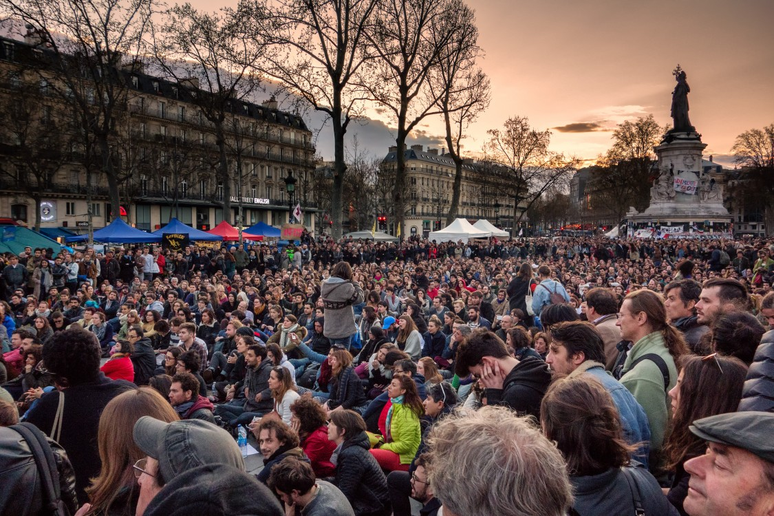 Nuit Debout, movement of the squares, 15M, Pots and Pans Revolution, social media, job precarity, youth unemployment, labor protests, labor laws, Europe-wide strike