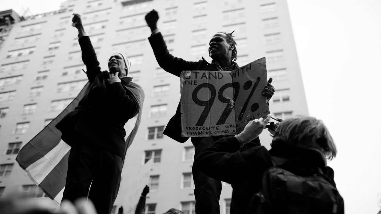 Occupy Wall Street protesters in November 2011 (Marcus Yam / The New York Times / Redux)