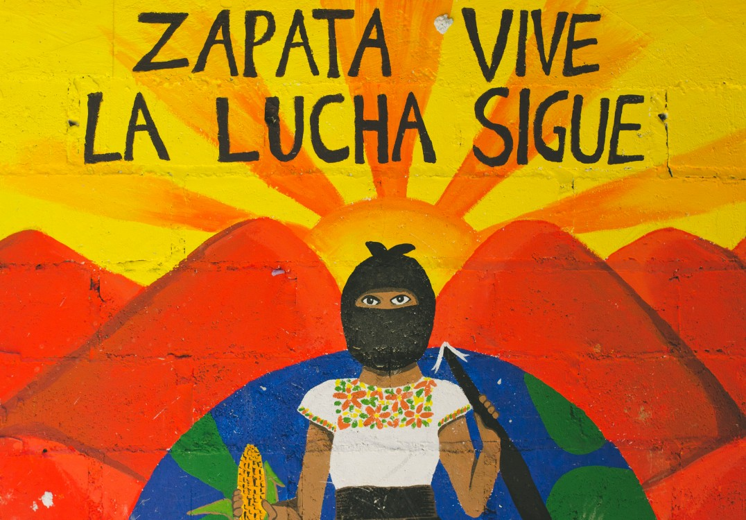 Zapatista rebellion, Subcomandante Marcos, Zapatista government, Zapatista organizing model, anti-globalization movement