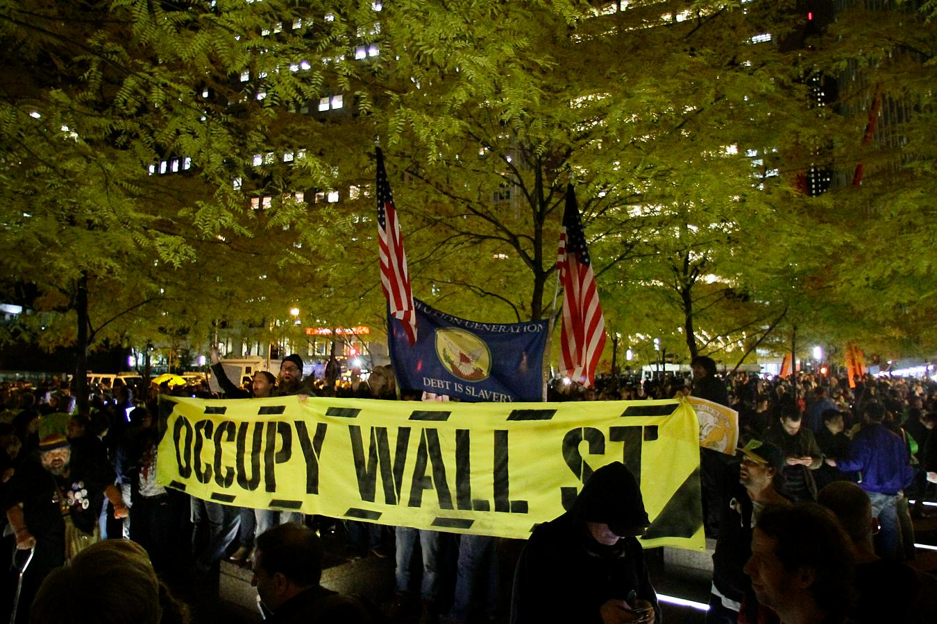 the movement lives on 4 years later has succeeded in  wall street we are the 99% income inequality wealth inequality