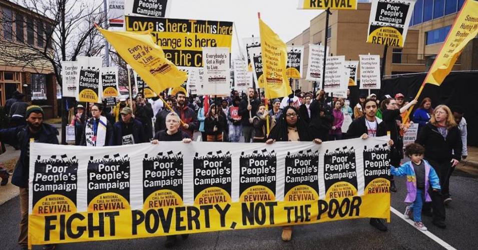 Poor People's Campaign, protesting poverty, California protests, Moral Mondays
