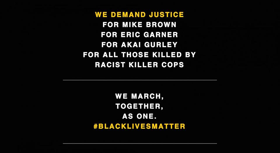 Millions March, police violence, police brutality, Michael Brown, Eric Garner, Ferguson protests, Darren Wilson, school to prison pipeline, mass incarceration