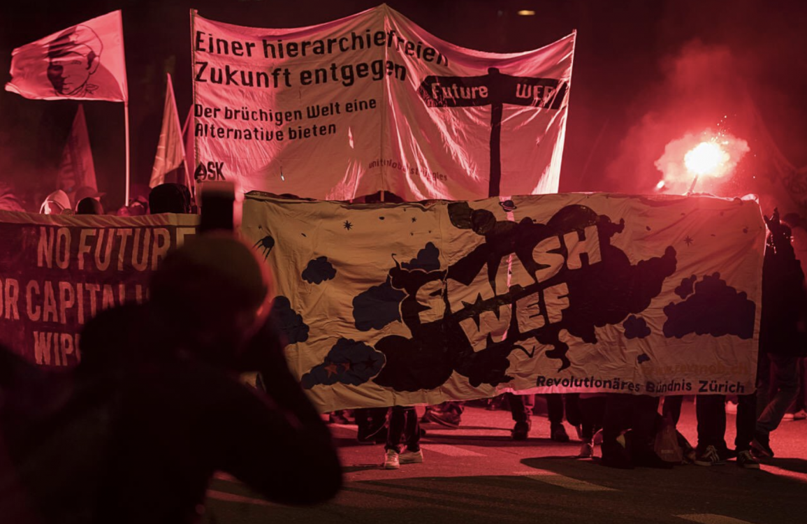 World Economic Forum, Davos summit, Davos class, Donald Trump, 1%, Davos protests, Young Socialists of Switzerland