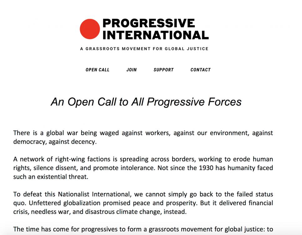Yanis Varoufakis, Jane Sanders, Bernie Sanders, Sanders Institute, Progressive International, global left, populist movements, rising authoritarianism