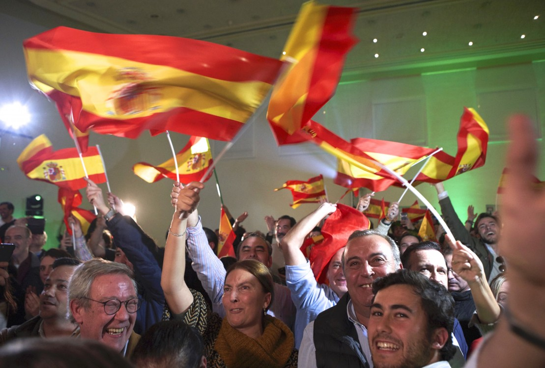 Vox party, rightwing movements, rightwing populism, Partido Popular, Spanish austerity cuts, xenophobia, anti-immigrant sentiment