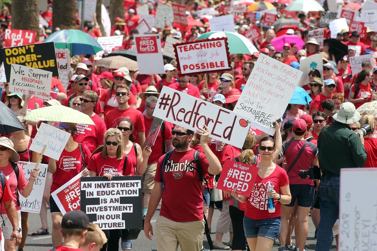 teacher strikes, treacher pay, union busting, right to work, Janus decision, teacher demands, union support