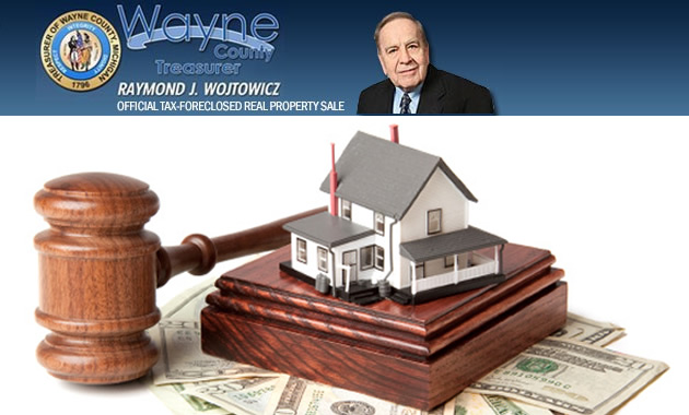 Wayne County Tax Foreclosure auction, Wayne County Treasurer Auction, Detroit foreclosure crisis, Detroit Land Bank Authority, foreclosed homes, home ownership