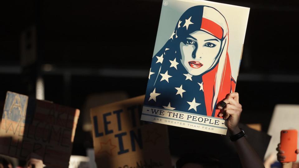 Muslim Ban, Netflix, Facebook, Apple, Ubeer, Lyft, Microsoft, Twitter, Yelp, LinkedIn, Salesforce, Starbucks, Airbnb, Nike