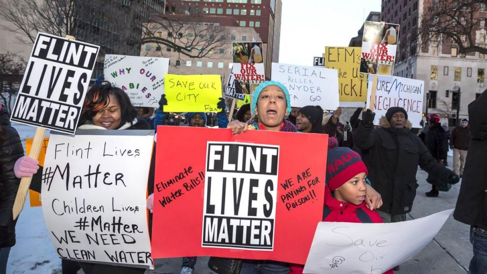 Flint water crisis, Flint water poisoning, Occupy Wall Street, Black Lives Matter, police brutality, police violence