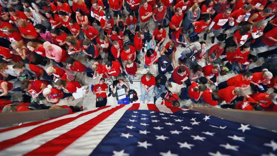 North Carolina teacher strikes, national teacher strikes, teacher pay, teacher walkouts, right to work laws, union busting, teachers union