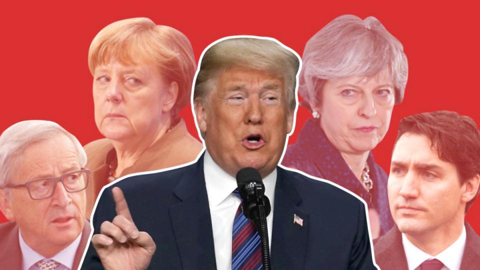 E.U. trade, U.S. trade war, aluminium tariffs, steel tariffs