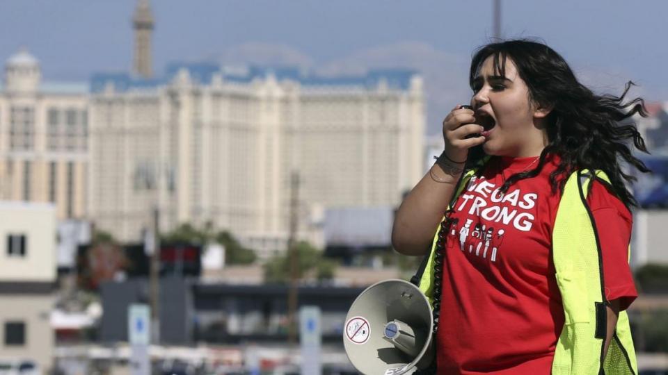 Las Vegas hospitality workers, Las Vegas strike,