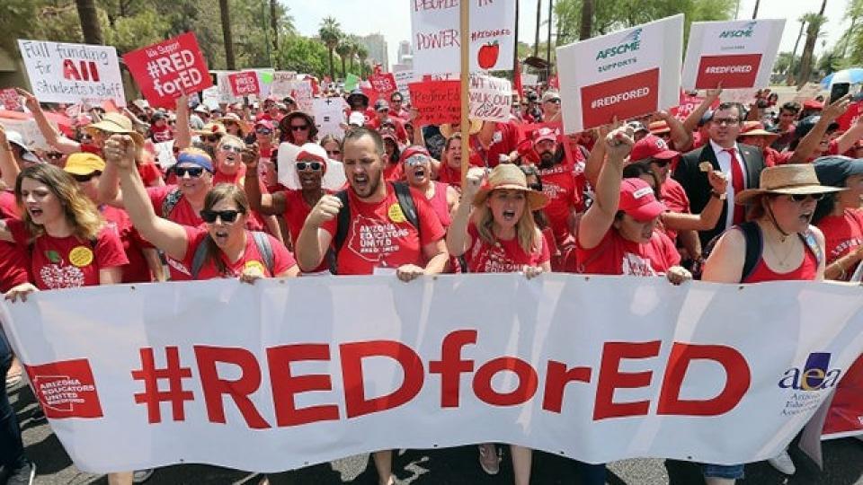 RedForEd, teacher strikes, teacher movement, teacher pay,