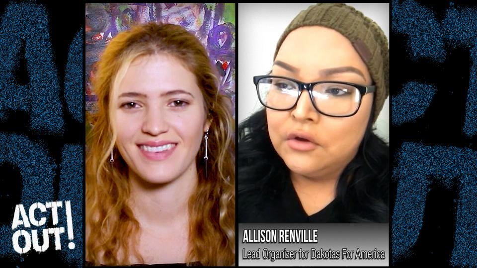 ActOut!, occupy, Activists, Allison Renville, indigenous voters, North Dakota