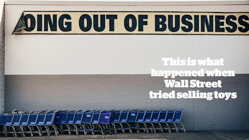 Wall Street hedge funds, corporate bankruptcies, Toys 'R' Us bankruptcy, retailers