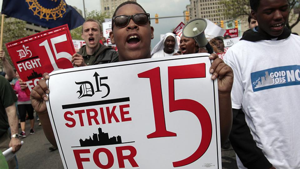 labor unions, collective bargaining, union power, Fight for $15, contract workers