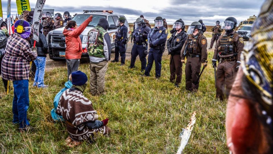 Standing Rock Sioux tribe, Standing Rock protests, Dakota Access Pipeline, North Dakota arrests, Indigenous Environmental Network, water protectors