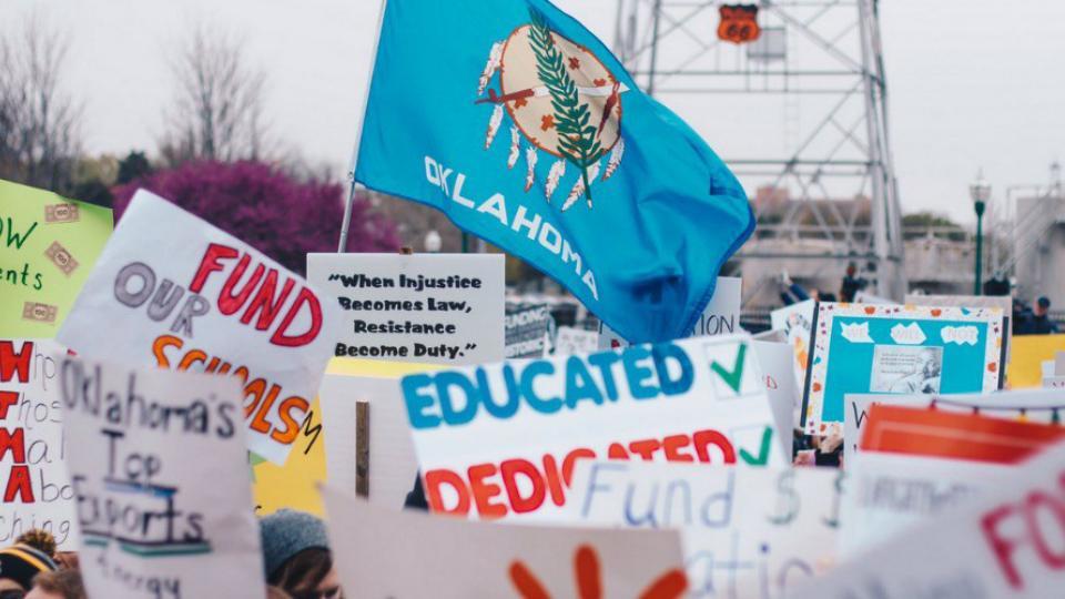 Oklahoma teachers strike, teacher walkout, teacher pay, Oklahoma Education Association
