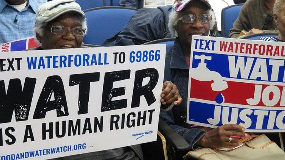 Baltimore water privatization, water privatization ban, human right to water