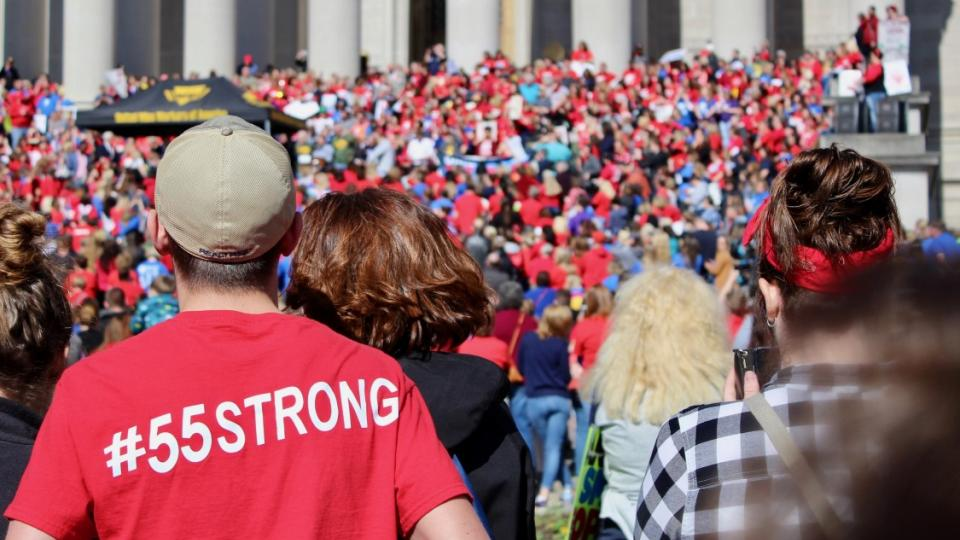 West Virginia teachers strike, teacher wages, teacher pay, teacher healthcare, oil and gas revenue, West Virginia Education Association, wildcat strikes