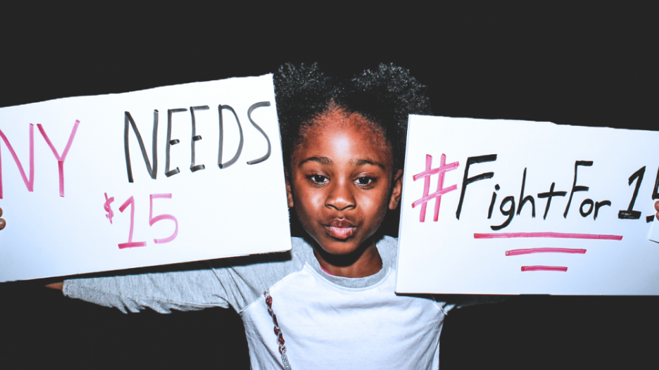 Fight for $15, minimum wage, living wage, American Federation of Teachers, Service Employees International Union, SEIU, labor activism