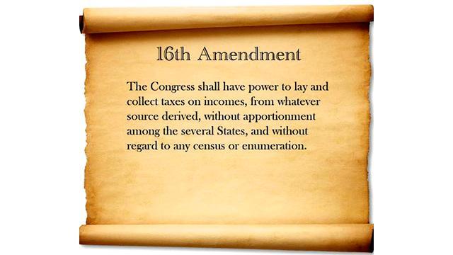 16th Amendment Tax 39 em The 16th Amendment