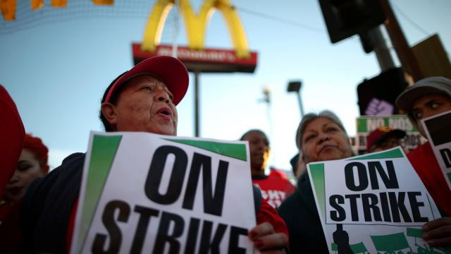 The fast food industry has one of the widest pay disparities between CEO and worker. Photograph: Lucy Nicholson/Reuters