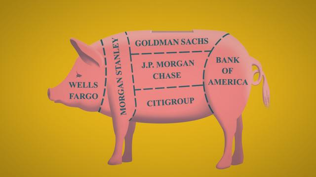 Volcker Rule, Dodd-Frank reform, Wall Street deregulation, Glass-Steagall Act, break up the banks, bank bailouts