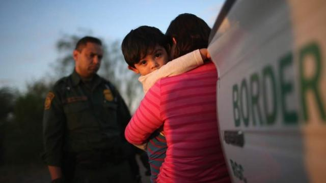 "The Associated Press reports that young migrant children forcibly separated from their parents are being sent to facilities that critics described as ""prisons for babies."" (Photo: @NIJC/Twitter)"