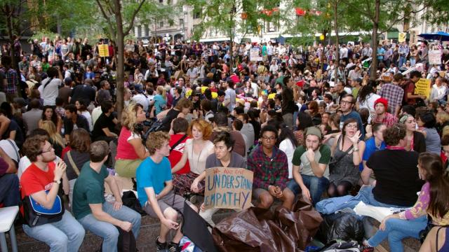 protest movements, social mobilizations, movement of the squares, Occupy Wall Street, Podemos Party, Jeremy Corbyn, Bernie Sanders, protest demands, horizontal democracy, Arab Spring, Nuit Debout