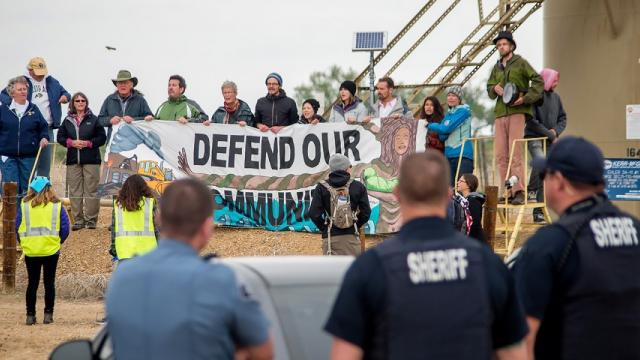 anti-fracking protests, Keep It In the Ground, protester arrests, undercover agents