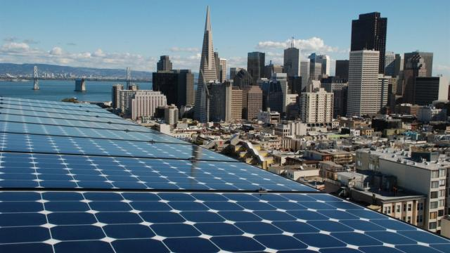 solar energy, rooftop solar, California clean energy policies, National Renewable Energy Laboratory, carbon emissions, San Francisco solar policy