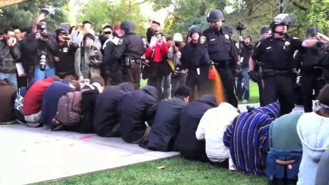 pepper-spray cop, UC Davis pepper-spray incident, Occupy student protests, Linda Katehi, Janet Napolitano
