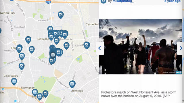 Geofeedia, mapping protesters, surveillance programs, Instagram, Twitter, Facebook, social media spying, Baltimore protests, Freddie Gray,