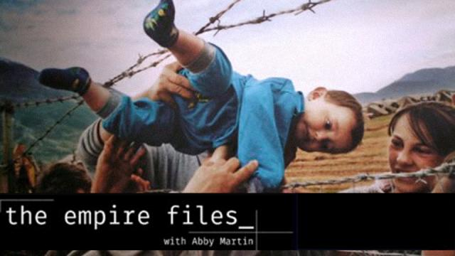 Abby Martin, The Empire Files, refuge crisis, Europe, Atossa Abrahamian, Saskia Sassen