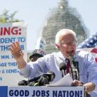 Bernie Sanders Introduces $15 Minimum Wage Bill As Federal Contract Workers Strike